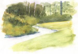 The Marble West Inn stream - by Ann Lindsay