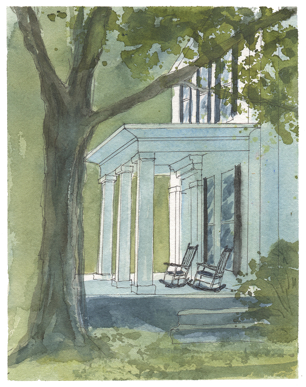 The Marble West Inn Porch - by Ann Lindsay